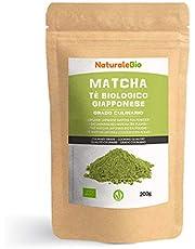 Biologische Matcha Thee in poeder [CULINAIRE KWALITEIT] 200 gram. Bio Japanse Groene Matcha-Thee. Geproduceerd in Uji, Kyoto in Japan. Ideaal voor desserts, smoothies, melk en in als ingrediënt.