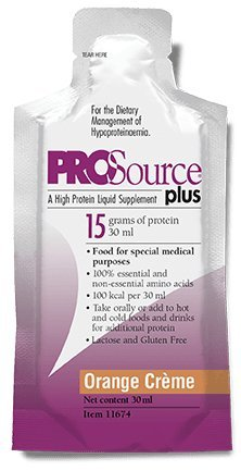 Prosource Plus Orange Crème Packets: Concentrated liquid protein. 15 grams of protein per 1 fl. oz. (100 pack) by Medtrition