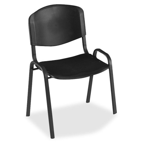 Safco 4185 Contour Stack Chairs - Steel Black Frame21.75