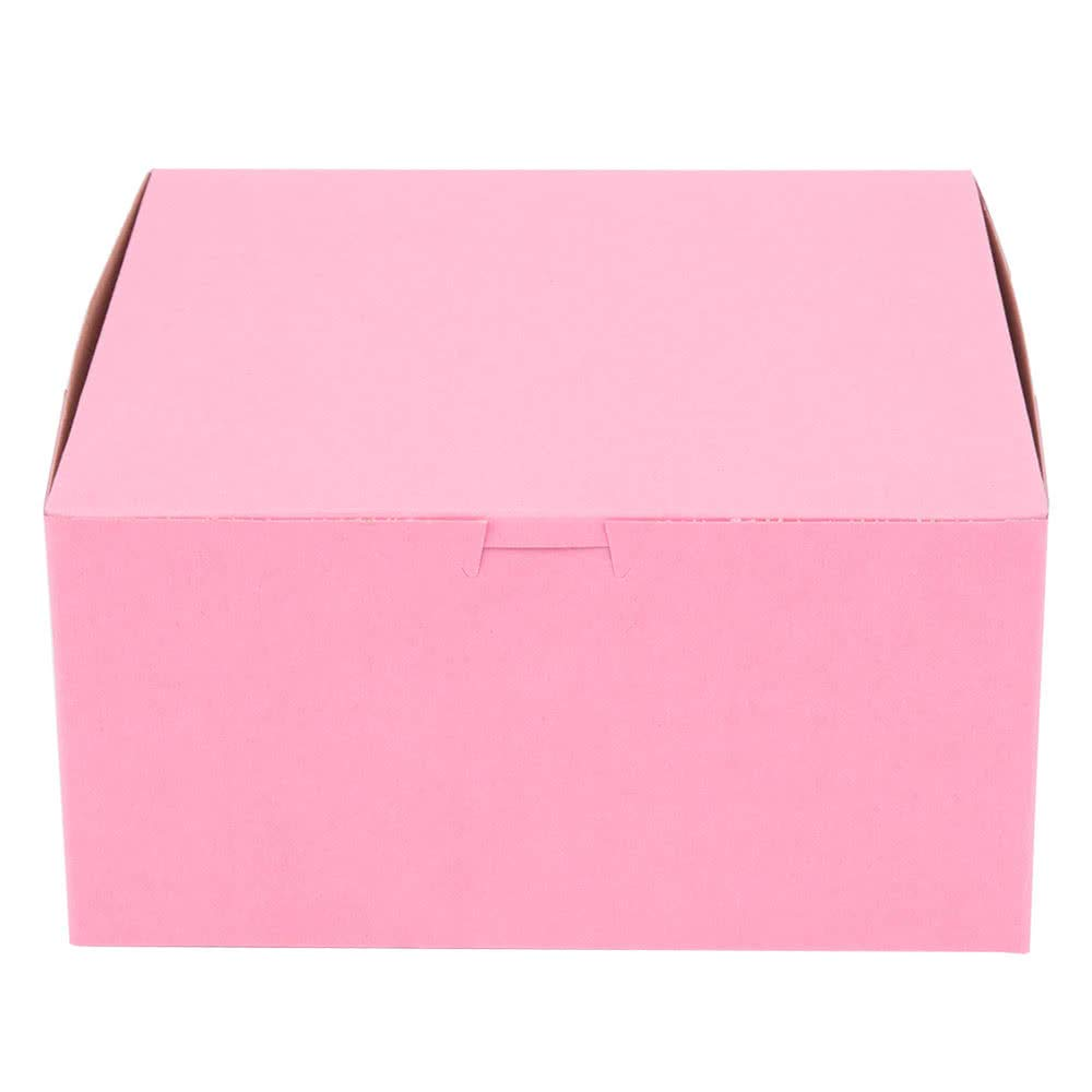 Pack of 10 Pink 10x10x5 Bakery or Cake Box