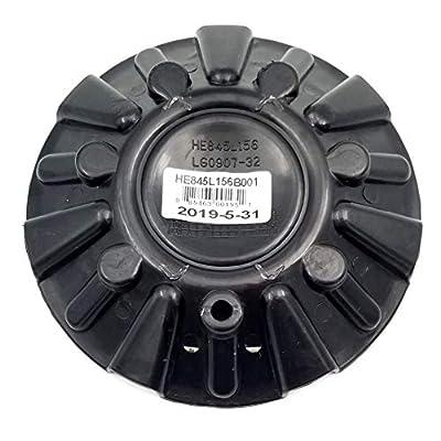 Helo Wheels 845 HE845L156 HE845L156B001 Gloss Black Wheel Center Cap: Automotive