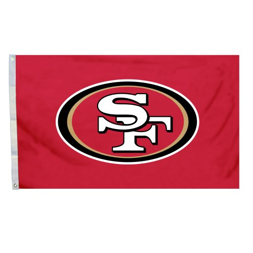 NFL San Francisco 49ers Logo Only 3-by-5 Feet Flag with Grommetts