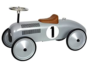 marquant vintage kids ride on toy car silver design