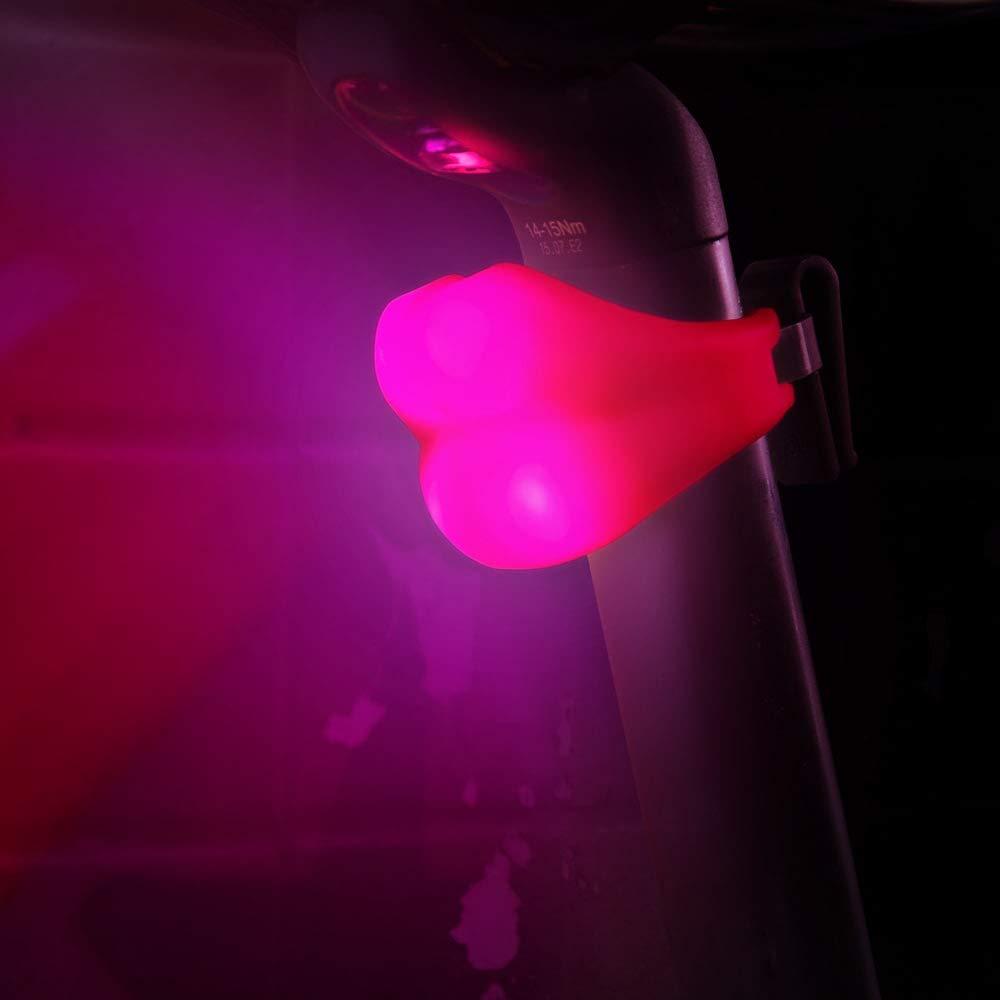 Volo USB rechargeable V/élo Feu arri/ère avec motif en forme de l/èvres rose