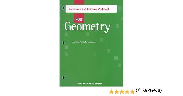 Amazon.com: Holt Geometry: Homework and Practice Workbook ...