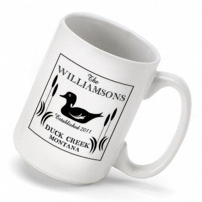 Personalized Cabin Series Wood Duck Coffee Mug (15 oz.)