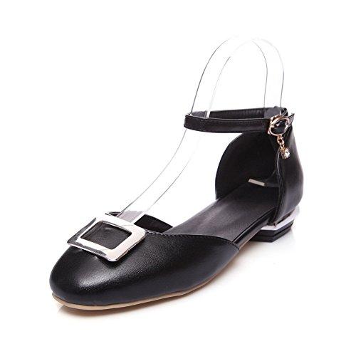 SLC04180 AdeeSu Noir Sandales Femme Compensées 4fgfq