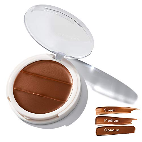 3-in-1 Cream Concealer & Highlighter. Natural Coconut for Dewy Glow - UNDONE BEAUTY Conceal to Reveal. For Blemishes, Tattoos, Under Eye Circles & Wrinkles. Vegan & Cruelty Free. CACAO DARK