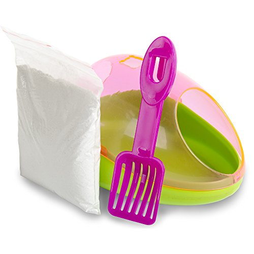 Ware Manufacturing Critter Potty/Dust bath Kit for Small Animals - Colors May Vary