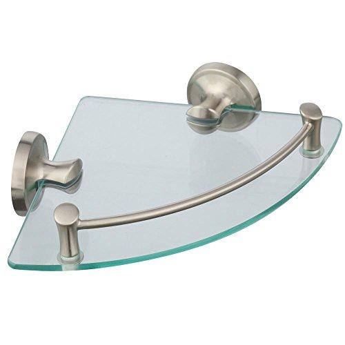 EXTEN16-BN Bath Corner Glass Shelf Brushed Nickel (Delta Glass Shelf)