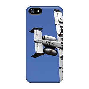 Tpu Case Cover For Iphone 5/5s Strong Protect Case - A 10 Thunderbolt Approaching Target Design