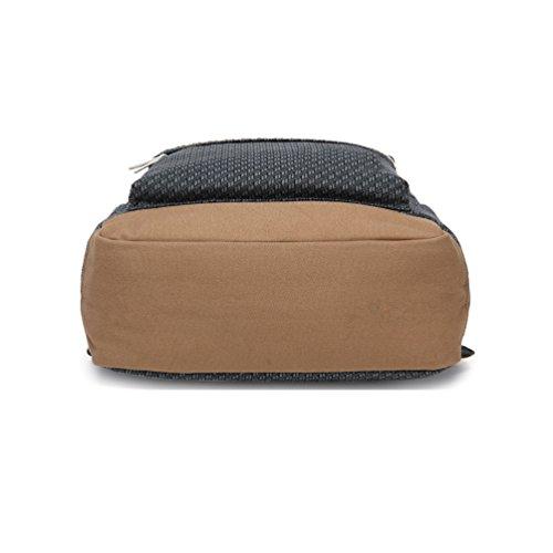 Inwagui Rucksäcke Rucksack Backpack Daypack Schulranzen Schulrucksack Wanderrucksack Schultasche Rucksack für Schülerin Mädchen-Dunkelgrau