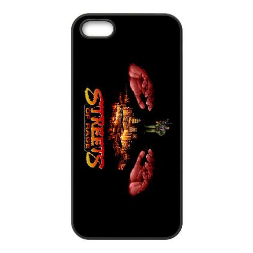 Streets Of Rage2 coque iPhone 5 5s cellulaire cas coque de téléphone cas téléphone cellulaire noir couvercle EEECBCAAN04714