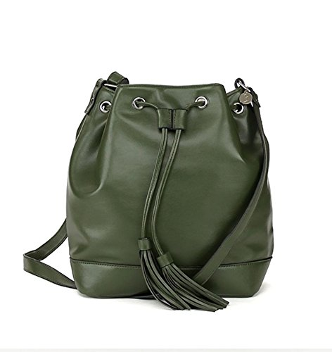 Halsted Leather - About Face Designs Women's Bobbi Chicago Halsted Bucket Bag, Green, One Size
