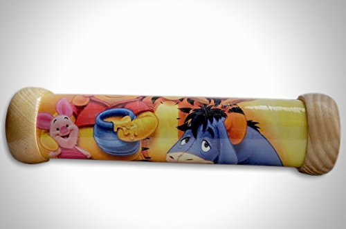 Handmade Wooden Kaleidoscope Children Educational Toy Winnie-the-Pooh Pattern