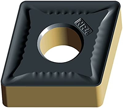 """Walter Tools CNMG120412-NR4 WSM20 Carbide Tiger-Tec Negative Indexable Turning Insert, 3/64"""" Corner Radius, 1/2"""" IC, 3/16"""" Thick, 0.059"""" - 0.197"""" Depth of Cut (Pack of 10)"""
