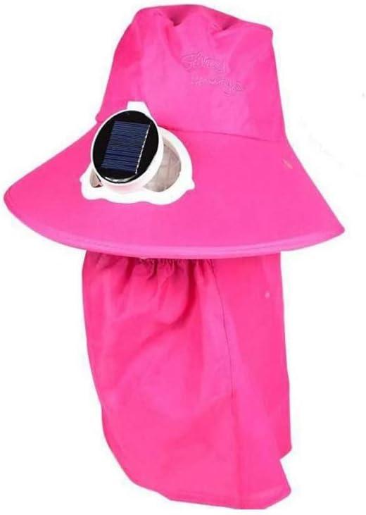 RMXMY Pesca Exterior Golf Gorra de béisbol con el Ventilador Solar del Sombrero del Verano de los Hombres y Las Mujeres de Malla Transpirable Doble de Carga de tamaño Ajustable, 3 Colores: