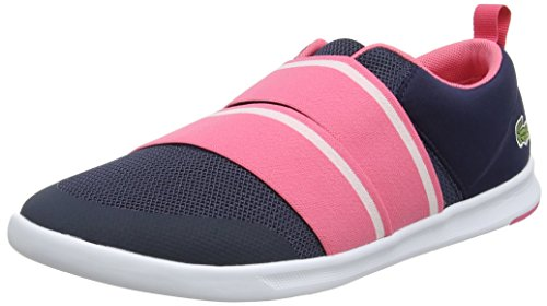 Lacoste Damen Avenir Slip 118 1 SPW Sneaker Blau (Nvy/pnk)