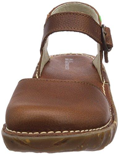 de vestir marrón Wood Yggdrasil El cuero mujer de Naturalista Sandalias para Braun OItxwq4S