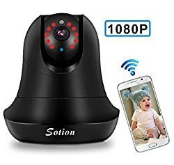 Wireless Security Camera With Motion Detection, Sotion 1080p Hd Ip Surveillance Wifi Internet Home Indoor Security Monitoring Cameras, Elder Pet Baby Video Monitor With Two Way Audio & Night Vision