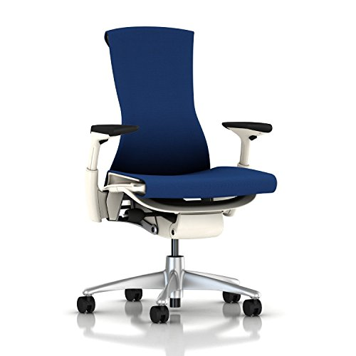 Herman Miller Embody Chair: Fully Adj Arms - White Frame/Tit