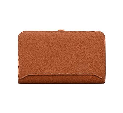 Passport Case Women's Wallets Leather Billfold Purse Genuine Brown Trifold Anifeel HqIwafSw