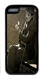 Charlie Chaplin Quote Custom TPU Black Case for iphone 4/4s iphone 4/4s
