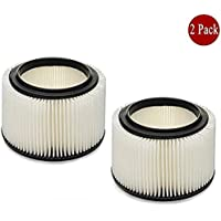 Filter for Craftsman General Purpose 3 & 4 Gallons Cartridge filter Replacement Wet/Dry Vac Vacuum Filter Fit Craftsman Part 917810 2 Pack