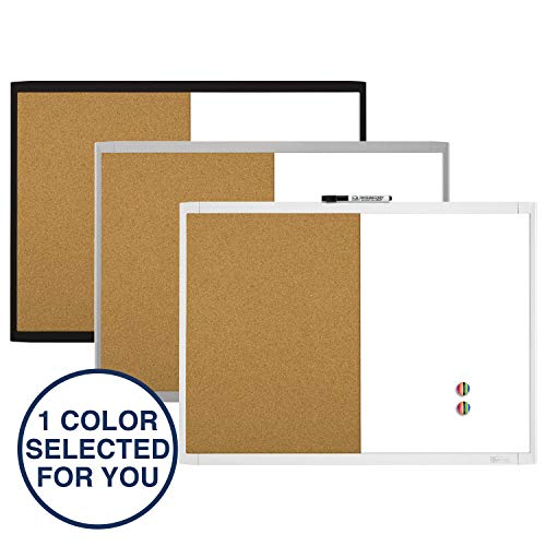 Quartet Combination Magnetic Whiteboard & Corkboard, 17