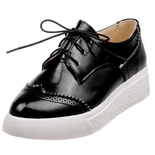 Sneaker Flat Women 1 Fashion black Melady EqZgBZ