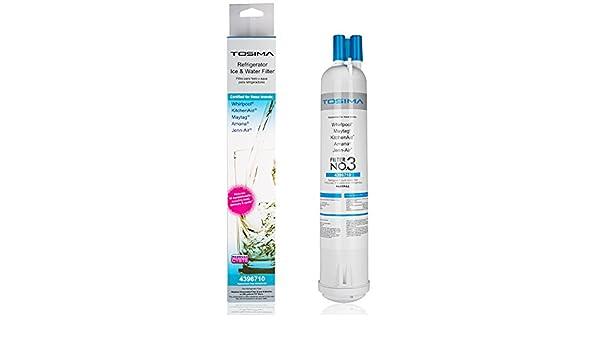 ToSima Filtro de agua para refrigerador Whirlpool 4396841, 4396710, Kenmore 9030, 9083, EDR3RX1 (color blanco): Amazon.es: Hogar