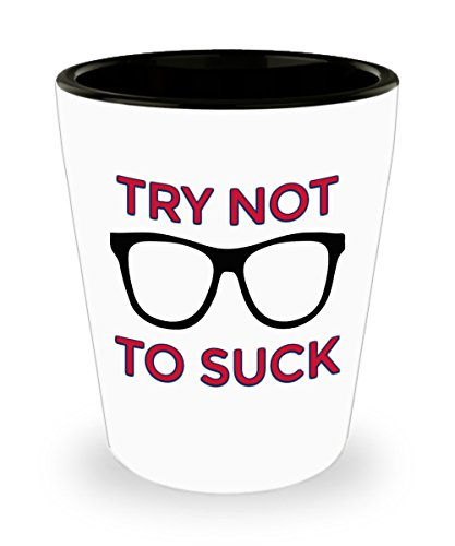Try Not To Suck - Chicago Baseball Shot Glass ()