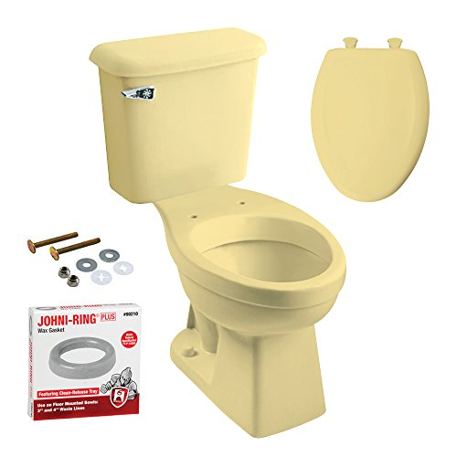 Peerless Pottery K-7668-05 McKinley Elongated Toilet with Seat, Harvest Gold (Pottery Place)