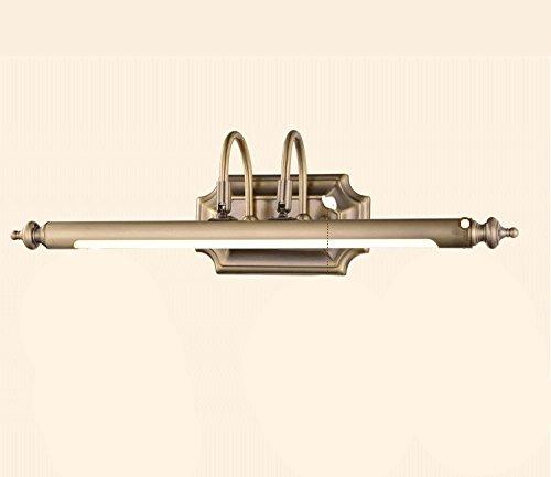 Weiãÿs Licht-6w 54cm WYDM LED Retro Spiegel Vorne Ligh, Badezimmer Spiegel Kabinett Licht Bad Wc Spiegellampe Spiegel Lampe Wandleuchte Bild Lampe (Farbe   Weißes Licht-6W 54cm)