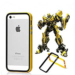 ZXC Hybrid Flexible TPU + PC Frame Bumper Case for iPhone 5/5S (Assorted Colors) , Gray