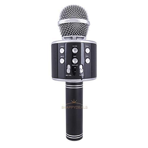 FidgetGear Bluetooth Wireless Microphone Karoke Stereo Mini Player Speaker Home KTV Ws-858 Black from FidgetGear