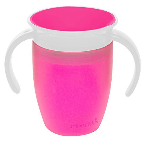 Munchkin Miracle 360 Trainer Cup, 7 Ounce 1-Pack - Pink