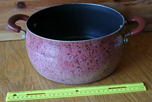 Paula Deen 6 QT Soup stock Pot Speckled Maroon Dutch Oven Enamelware Non-stick