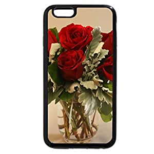 iPhone 6S / iPhone 6 Case (Black) bouquet love wonderful nature forever flowers red roses romantic fresh precious
