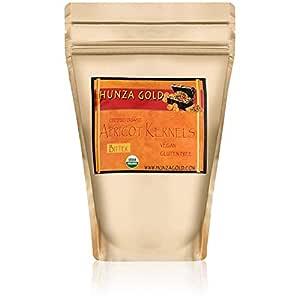 Hunza Gold Bitter Certified Organic Raw Apricot Kernels (1 Pound / 454 grams)