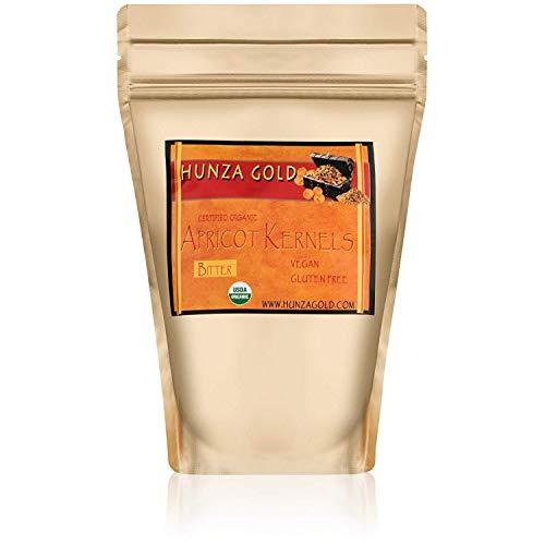 Apricot Kernels/Seeds GROUND (1 Pound / 454 grams) Hunza Gold Bitter Certified Organic Raw (Organic Apricot Seed Powder)