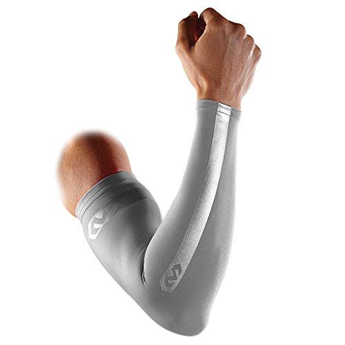McDavid Pair Compression Reflective Arm Sleeves, Small, Ultra Silver