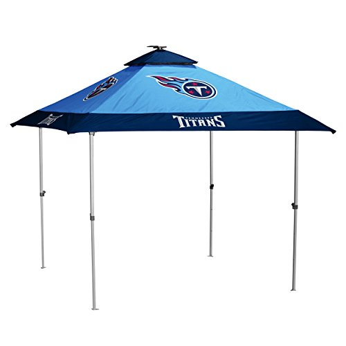 Logo Brands NFL Tennessee Titans Pagoda Tent Pagoda Tent, Titan Blue, One Size