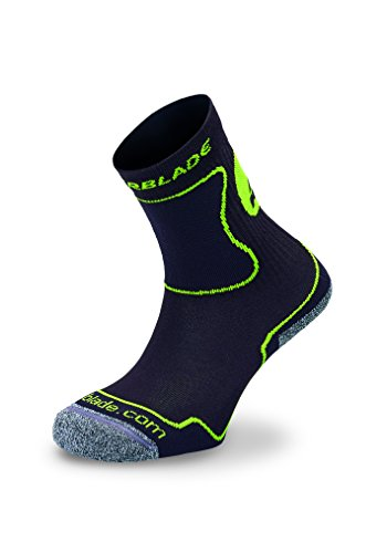 Rollerblade Performance Kids Socks, Inline Skating, Multi Sport, Black and Green, Small ()