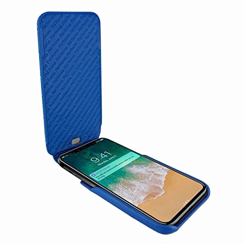 Piel Frama 792 Blue Crocodile iMagnum Leather Case for Apple iPhone X by Piel Frama (Image #1)