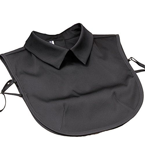 Solid Satin Stylish (Vpang Stylish Detachable Half Shirt Blouse False Collar Solid Color Imitate Satin Fake Collar Dickey Collar (Black))