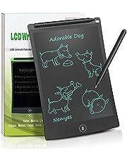 NEWYES Tableta de Escritura LCD 8.5 Inch Gráfica Dibujo Tablero Oficina Touch Pad Magnéticos Pizarra para la Nevera Memo Pad Electrónico con Lápiz y Funda para Niños Adulto Oficina Escuela