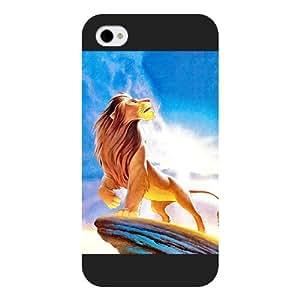 Customized Black Hard Plastic Disney Cartoon the Lion King iPhone 4 4s case
