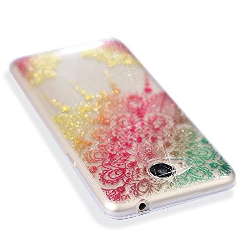 Huawei Mate 10 Pro Case + Free HD Screen Protector,idatog® Luxury Fashion Sparkle Glitter Cute Design Soft Silicone Gel Skin Cover Case Flexible TPU Creative Case Bumper Shockproof Anti-Scratch Protec Flower