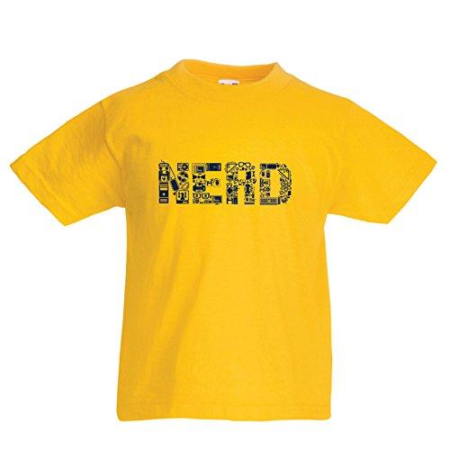 lepni.me Camiseta para Niño/Niña Nerd - Programador o Jugador Idea de Regalo Divertido (7-8 Years Amarillo Multicolor)